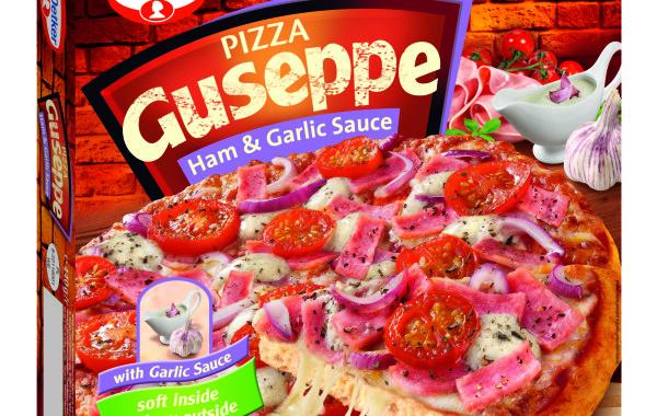 Pizza_Guseppe_z_szynką_i_sosem_czosnkowym